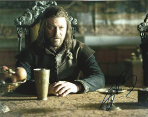 Sean Bean, Game of Thrones,  10x 8 picture. This is an original autograph and not a copy. 10326